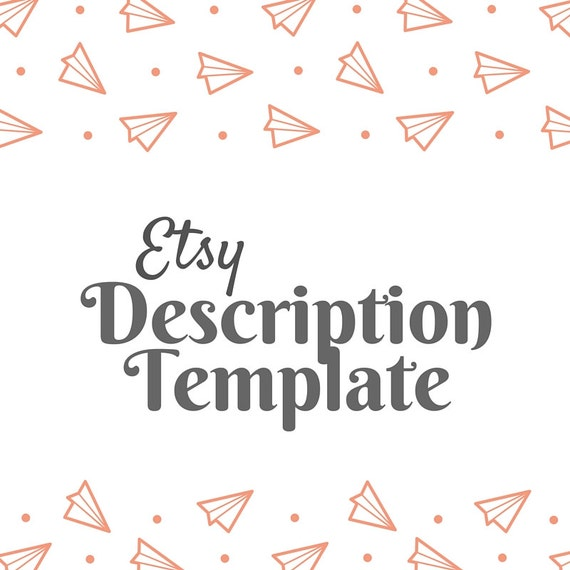 Etsy description template etsy product template etsy help for Etsy shop policies template