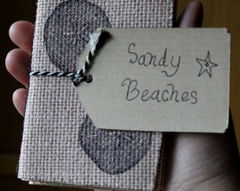 Sandy Beaches Mystery Burlap Pack of 3