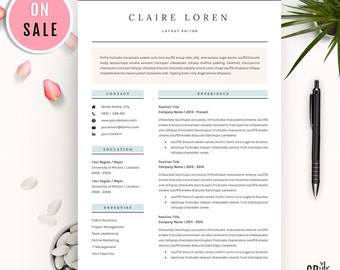 Resume Template - CV Template - for Word (US Letter and A4) 1 & 2 Page - Professional Creative  Resume - Instant Download