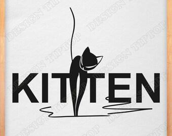 Kitten Svg, CAT SVG, Png, Eps, Cat Clipart, Cat Vector, Kitty SVG, Cricut Design, Cat Silhouette Studio, Svg Cut Files