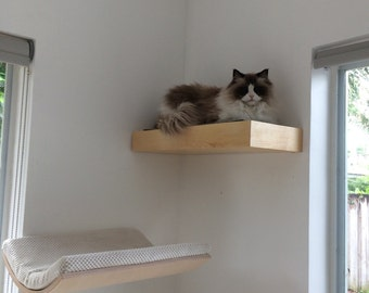 Pet Furniture, Animal Perch with Hidden Compartment Wall Shelf