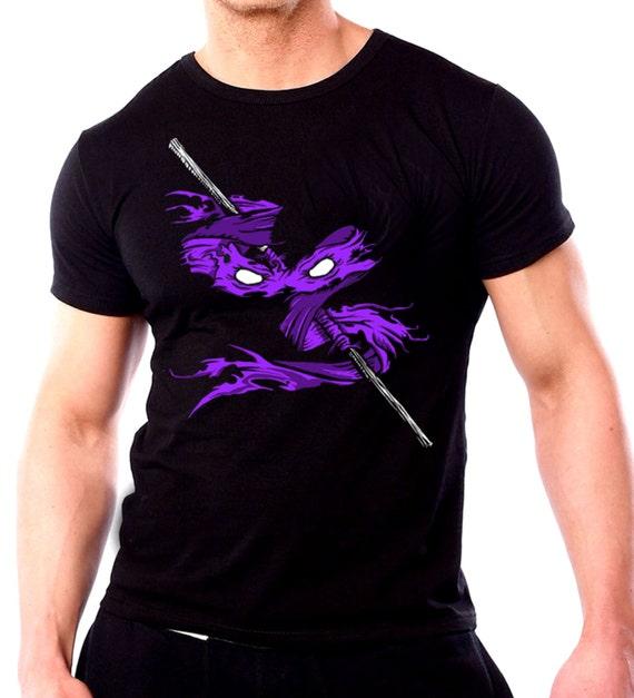 Donatello ninja turtle t shirt mens black tmnt t shirt new for Where can i buy ninja turtle shirts