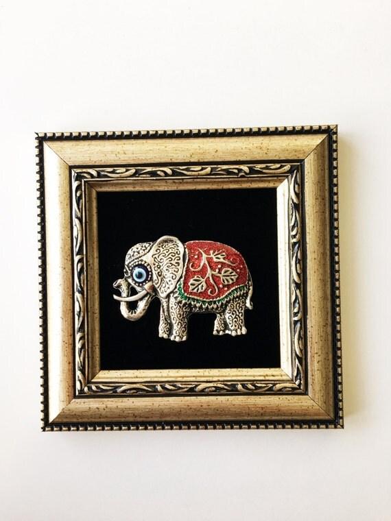 Framed Wall D Cor Red Elephant Wall Art Evil Eye Wall