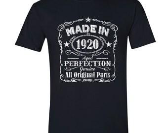 1920 birthday, 1920 shirt, 1920 T-Shirt, 1920, 1920 birthday shirt, Any Year Available