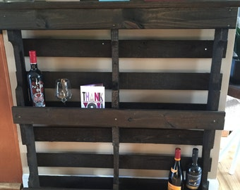 Rustic pallet shelves with optional lighting