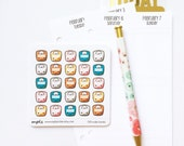 CLOSING SALE 40% OFF - 033 / 034 planner stickers : scales (candy series / fitness)