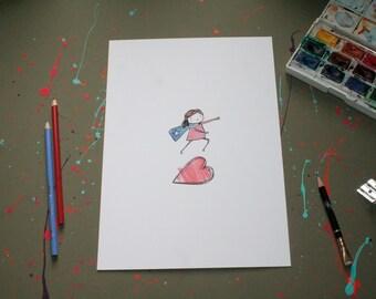 Love Leap A4 Print