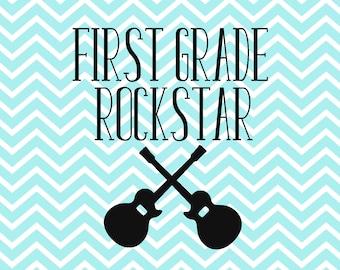 First Grade SVG - Back to School - 1ST Grade - Kindergarten - VPK - School - First Day Of School - Svg - Dxf - Png - Vector