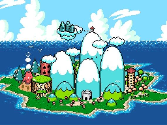 Yoshi S Island World Map