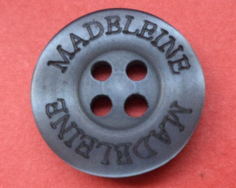 10 buttons 15mm dark grey (1142) gray button