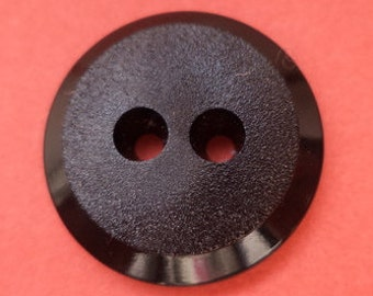 12 black buttons 18mm (5548)