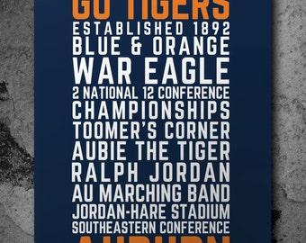 Auburn Tigers Poster - Printable