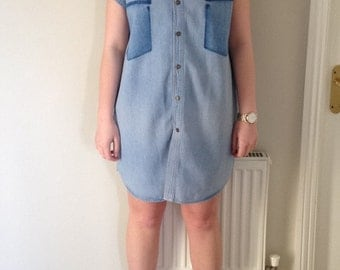 Upcycled Denim Dress