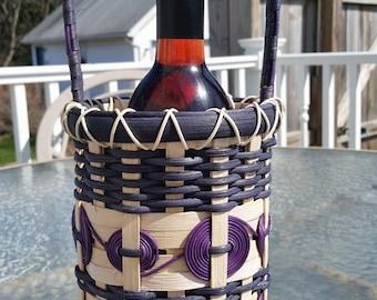 Purple Wine Basket