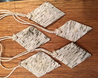 Rustic Birch Bark Tags (5)