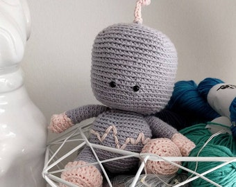 C0-Z the robot - plushie crochet pattern