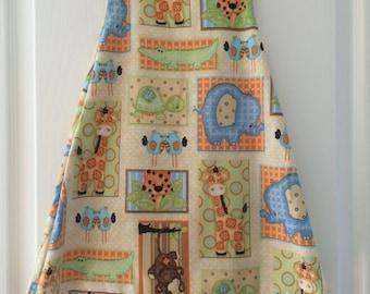 HANNAH Handmade Girls Animals Cotton Dress. Ages 2 - 3