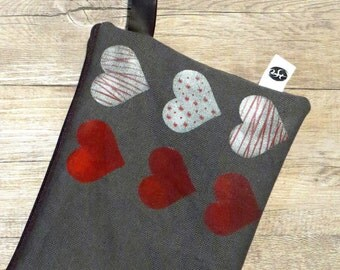 Clutch-clutch bag with hearts ...