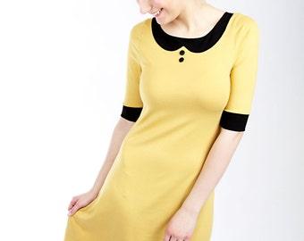 "MEKO ""Bon"" dress A-line collar yellow ladies"