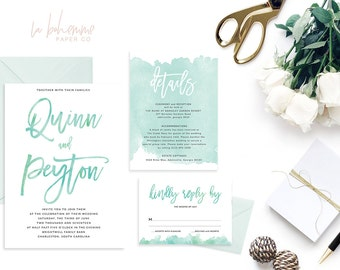 Printable Wedding Invitation Suite / Wedding Invite Set - The Quinn Suite