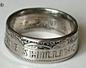 One Shilling Coin Rings