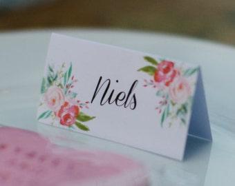Vintage Floral Wedding Place Card