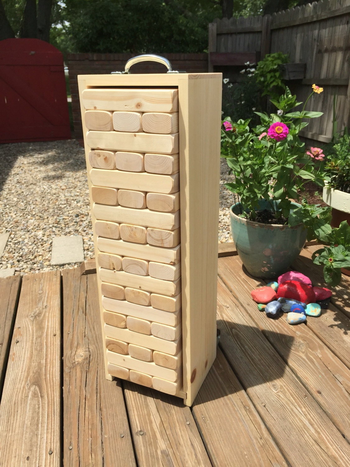Travel-Size GIANT JENGA with BOX Made From 2 x 3