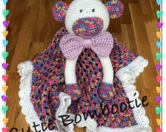 Sock monkey comfort blanket