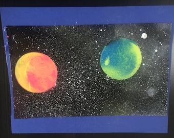 Blue and Pink Space