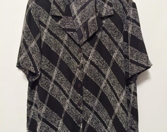 Vintage Black/White Print Shirt