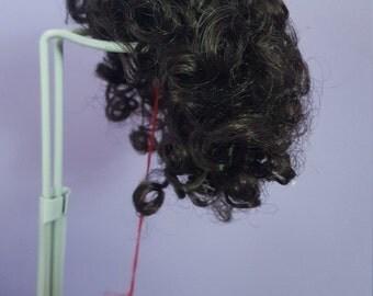 """FINAL SALE-Beautiful Vintage Monique Doll Wig Heather Dark Brown Size:6-7"""""""