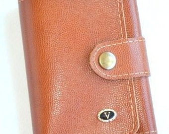 Leather purse, leather wallet, red purse, gift for him, gift for her