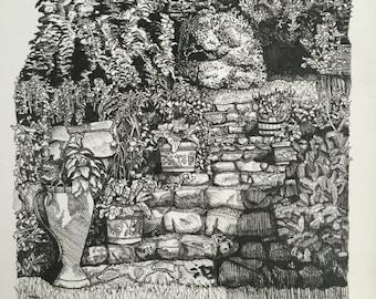 Garden. Print.