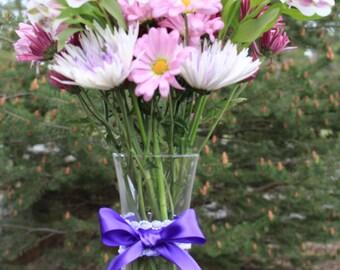 Satin Pearl Flower Vase