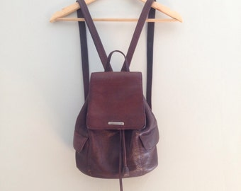 Nine West Brown Leather Mini Backpack
