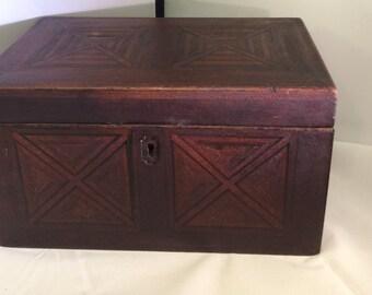 Victorian Inlaid Folk Art Antique Box