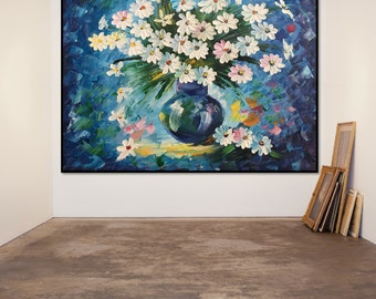 """Flowers in a Vase Oil Painting on Canvas Fine Art Home Decor 16""""X19.2""""(40X48 cm)"""