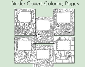 6 x 8 binder etsy for Binder coloring pages