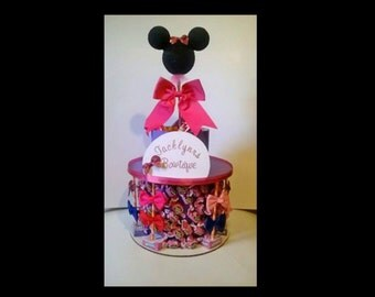 Minnie Mouse Bow-tique Birthday Candy Cake - Custom
