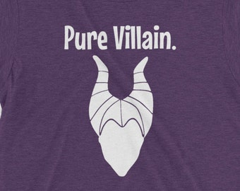Vinyl Disney World Villain Maleficent Iron On: Perfect for DIY Disney Family Shirts or Disneyland Onsies Transfer