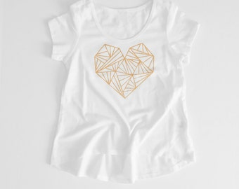 Gold Kaleidoscope Heart Toddler/Girl Shirt