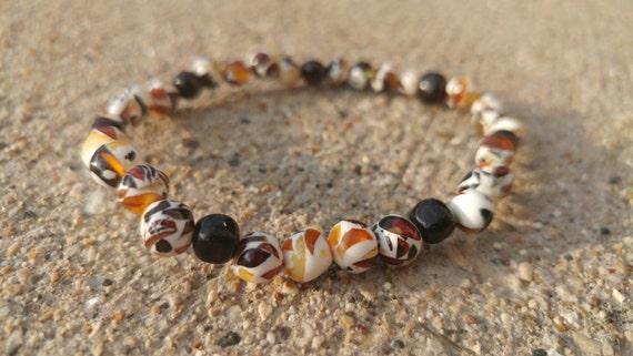 Polished Baltic Amber Mosaic Bracelet