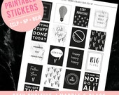 Motivational Planner Stickers / Printable Planner Stickers / Bullet Journal Stickers / ECLP Stickers