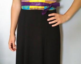 Belt wide type obi in wax