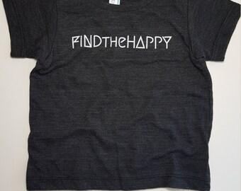 Find The Happy Baby Tshirt // American Apparel 12-18mo // Black Tshirt //Kids Tshirt // Children's clothing