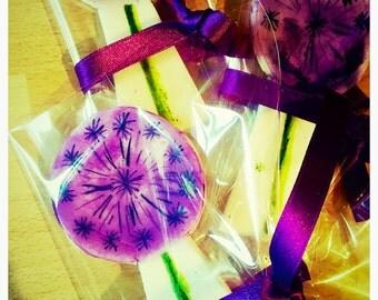 Allium shortbread favours