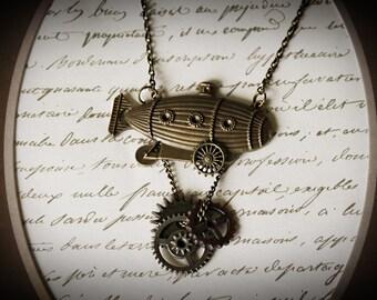 Steampunk Blimp Necklace