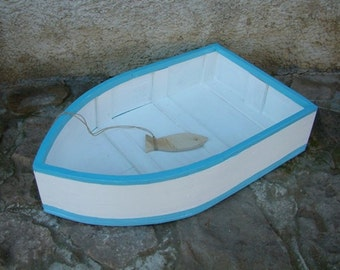 Photography prop Boat prop Photo decor Wooden boat Handmade and hand painted