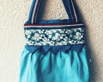 Carrier bag turquoise shoulder bag shoulder bag shopper
