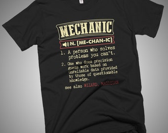 Mechanic Funny Dictionary Definition T-Shirt